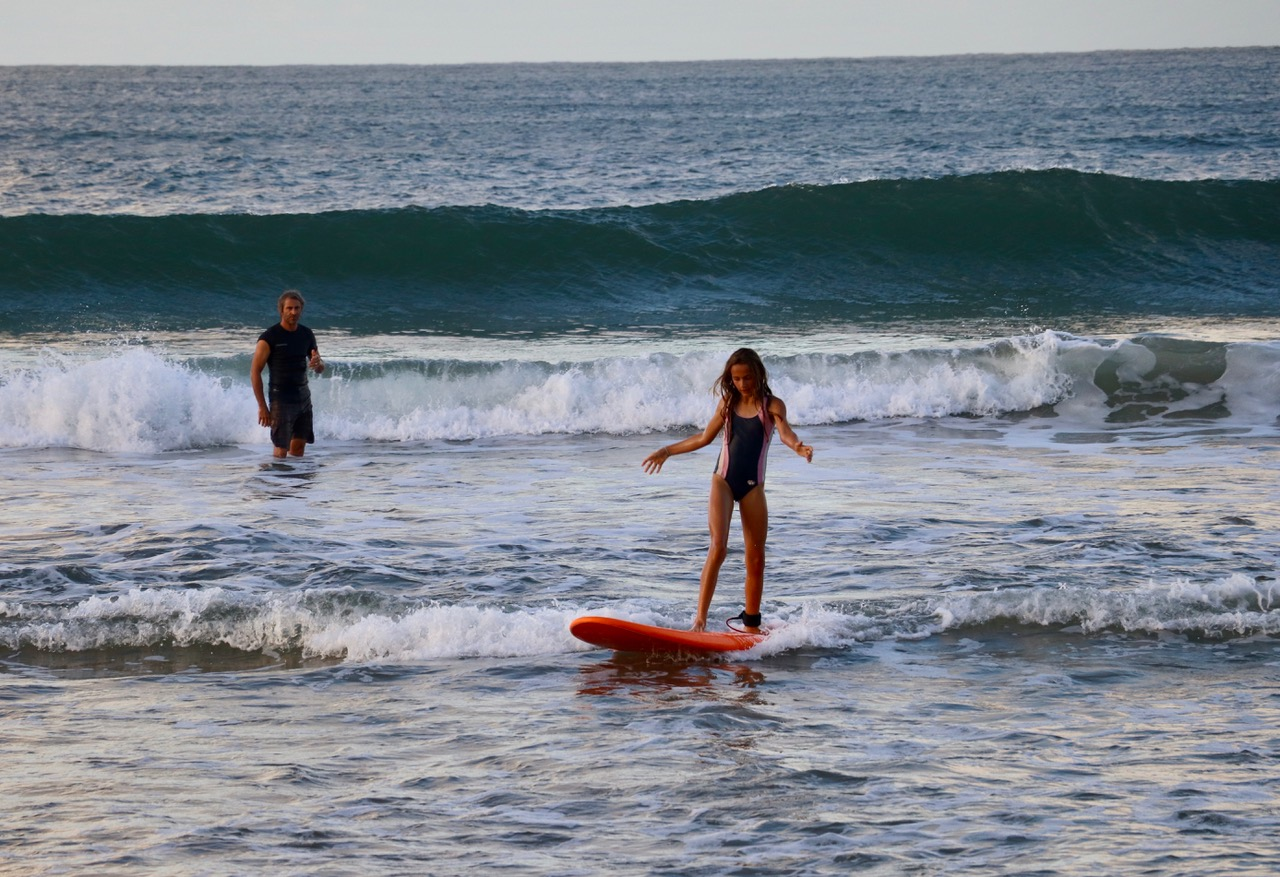 ..Surf lessons with Daddy