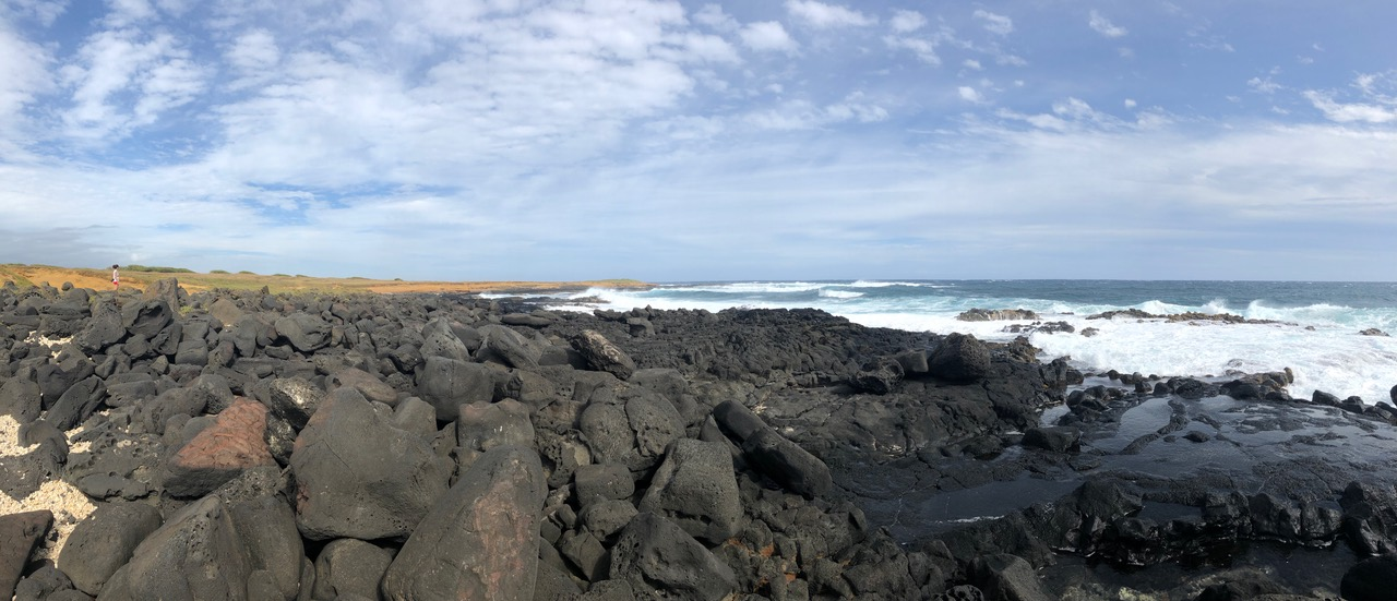 this is the most southern point of the USA...South Point Big Island Hawai'i