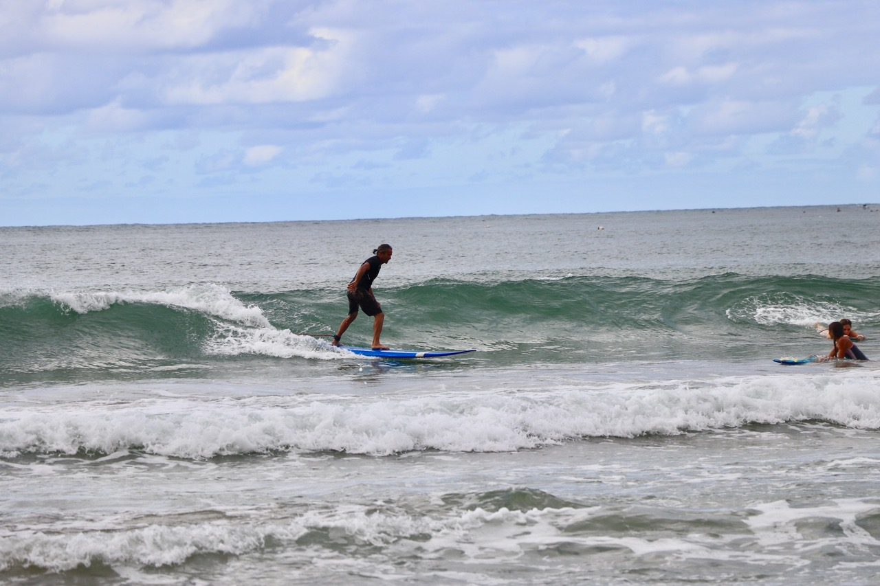 ...the waves are great and easy to catch on a long board