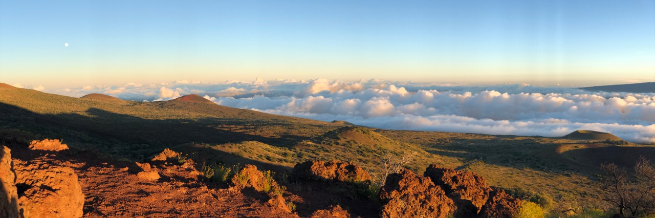 Sunset on the foot of Mount Kea
