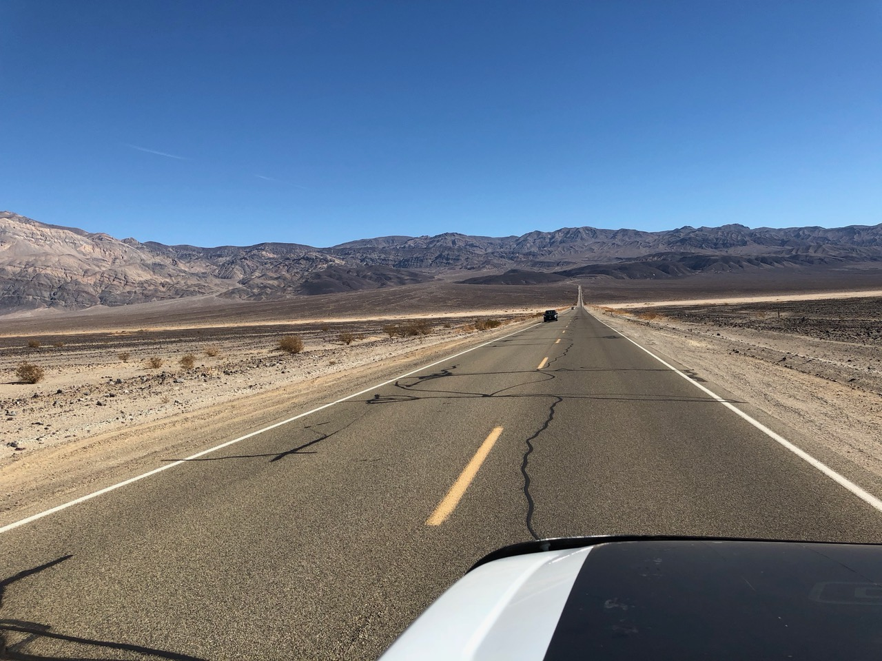 ...driving through Death Valley