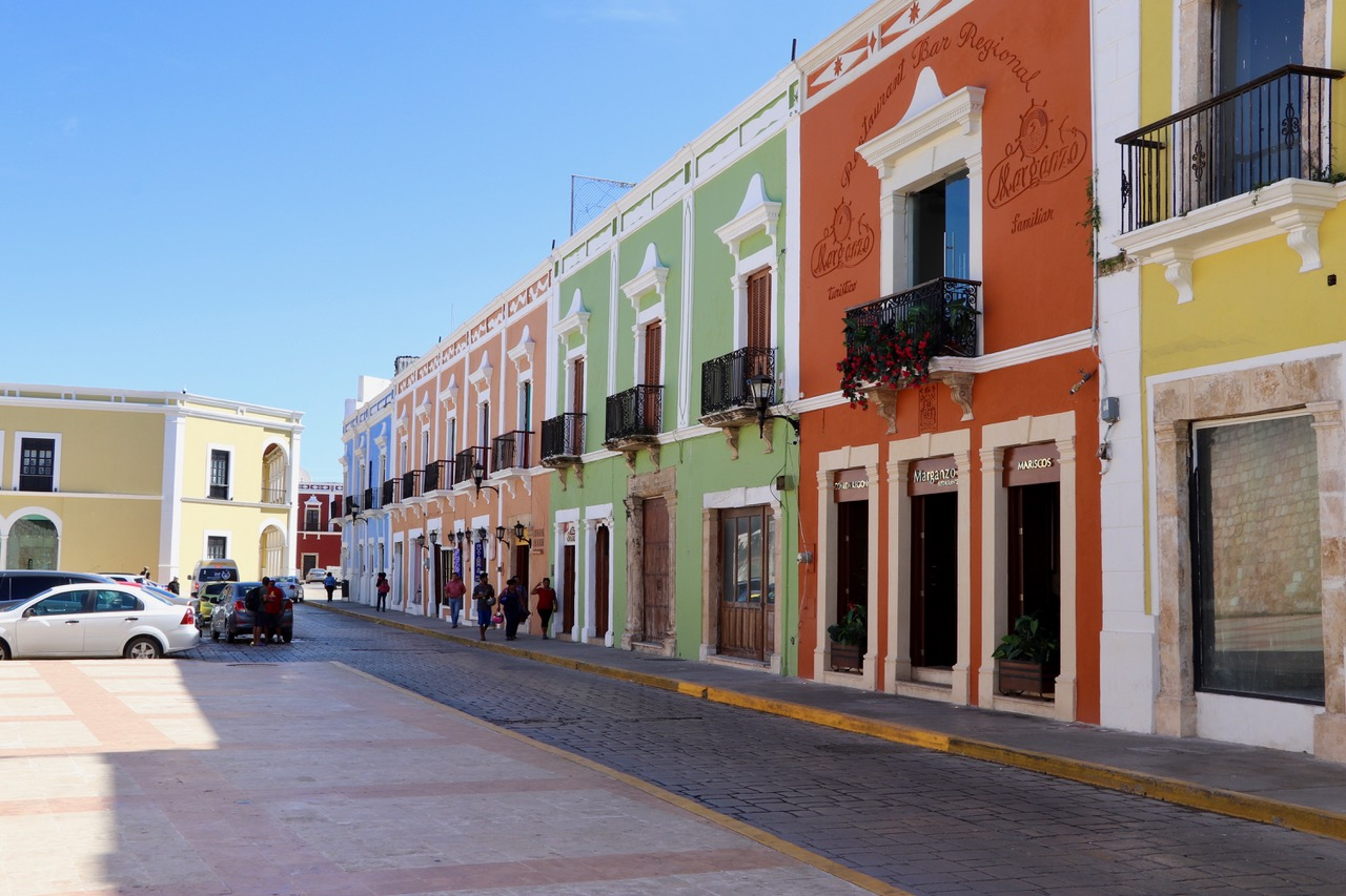 The old town of Campeche..