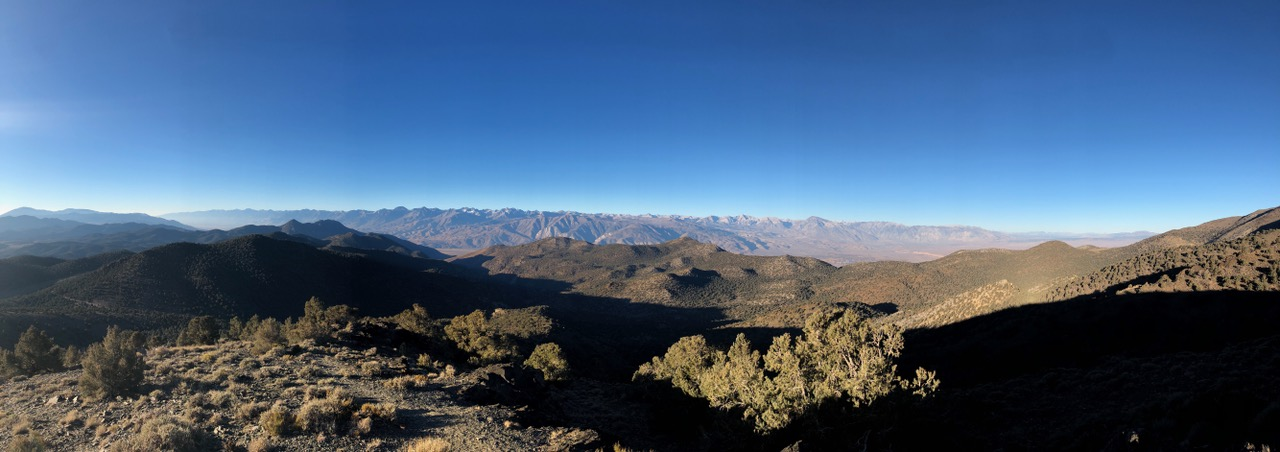 Early morning view down Owens Valley