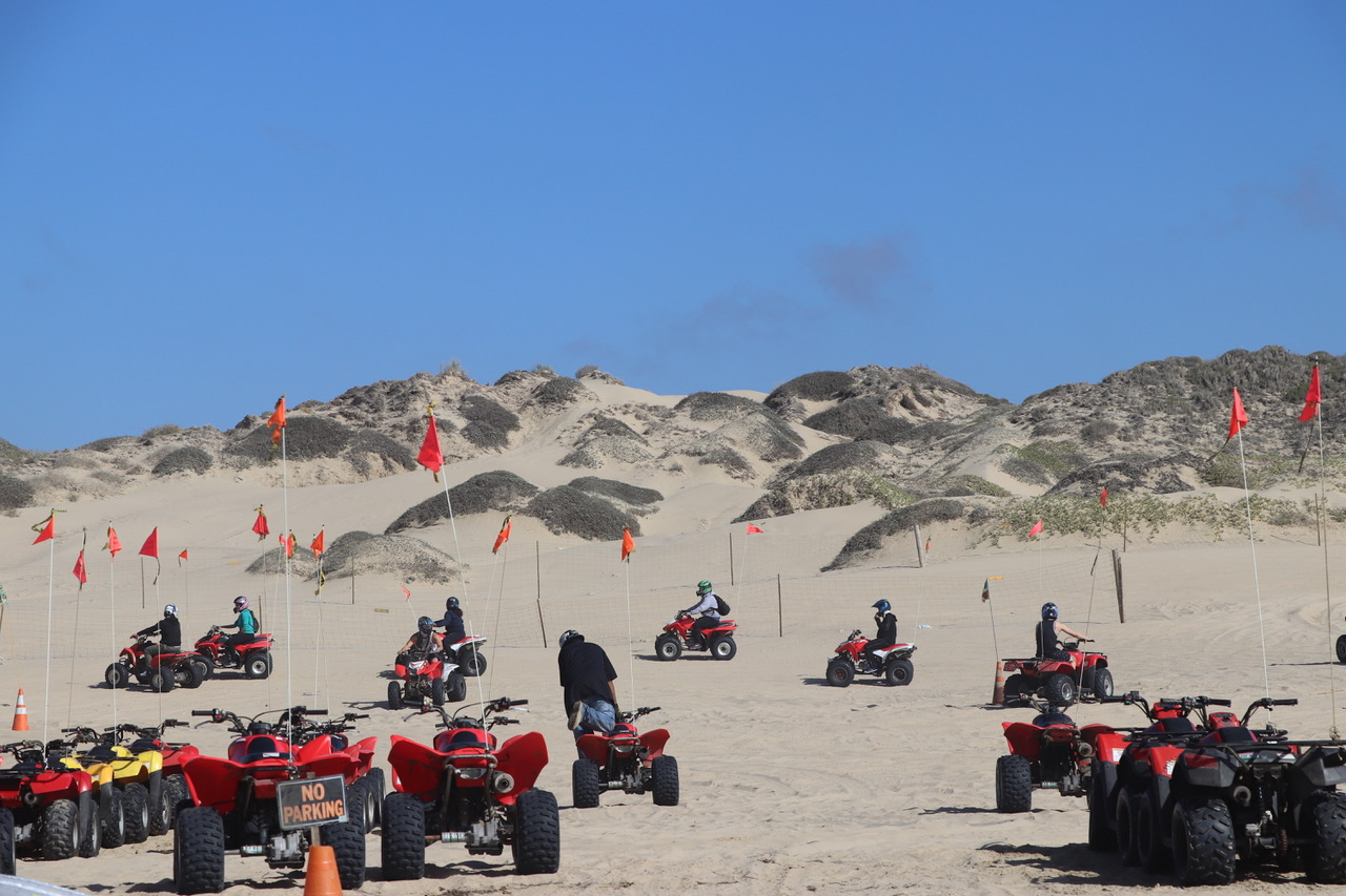 On our way down Oceano Beach we see quads....