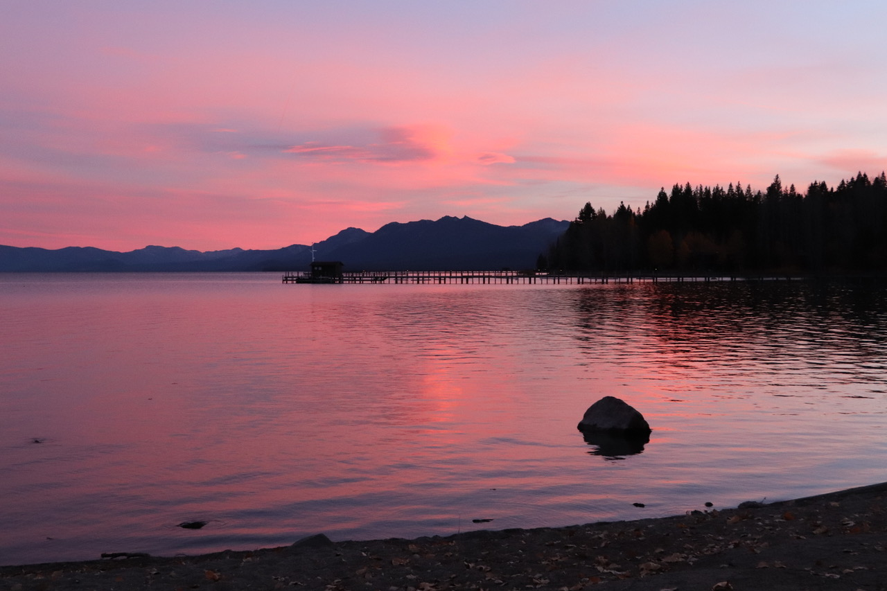 ...before the sun disappeared behind Tahoe Lake