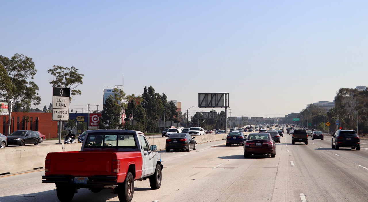 Traffic in LA is just outrageous - this was Sunday afternoon!