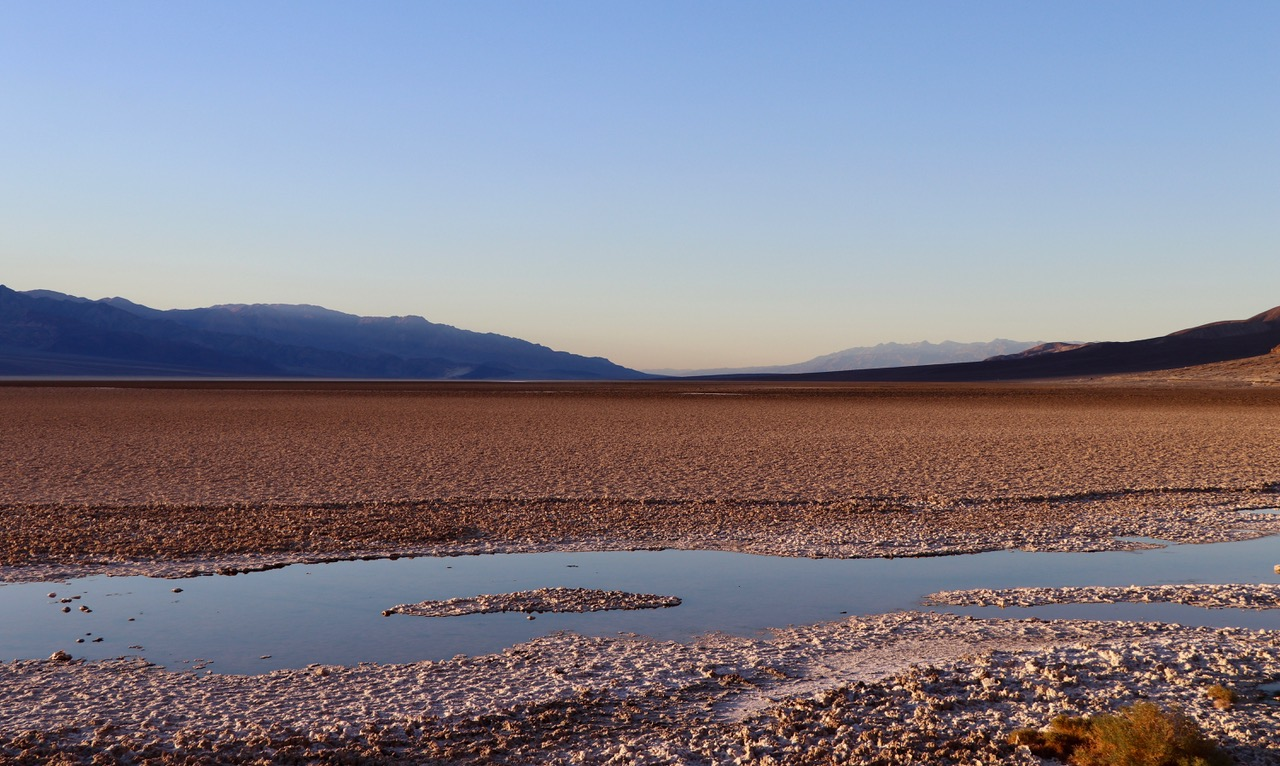 ...the dried out Badwater salt lake...