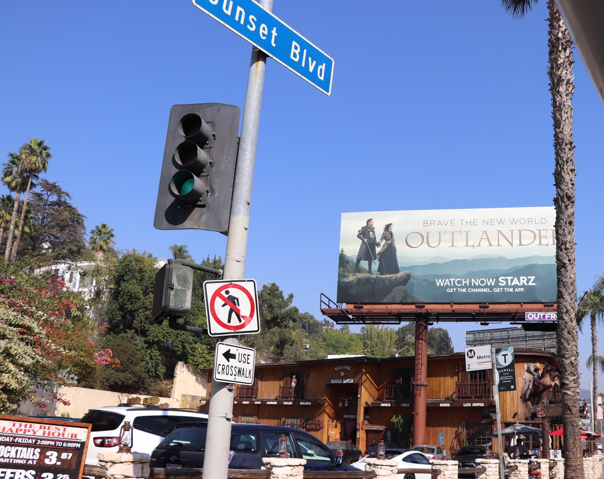 Throughout Hollywood you find commercial billboards of the latest movies everywhere