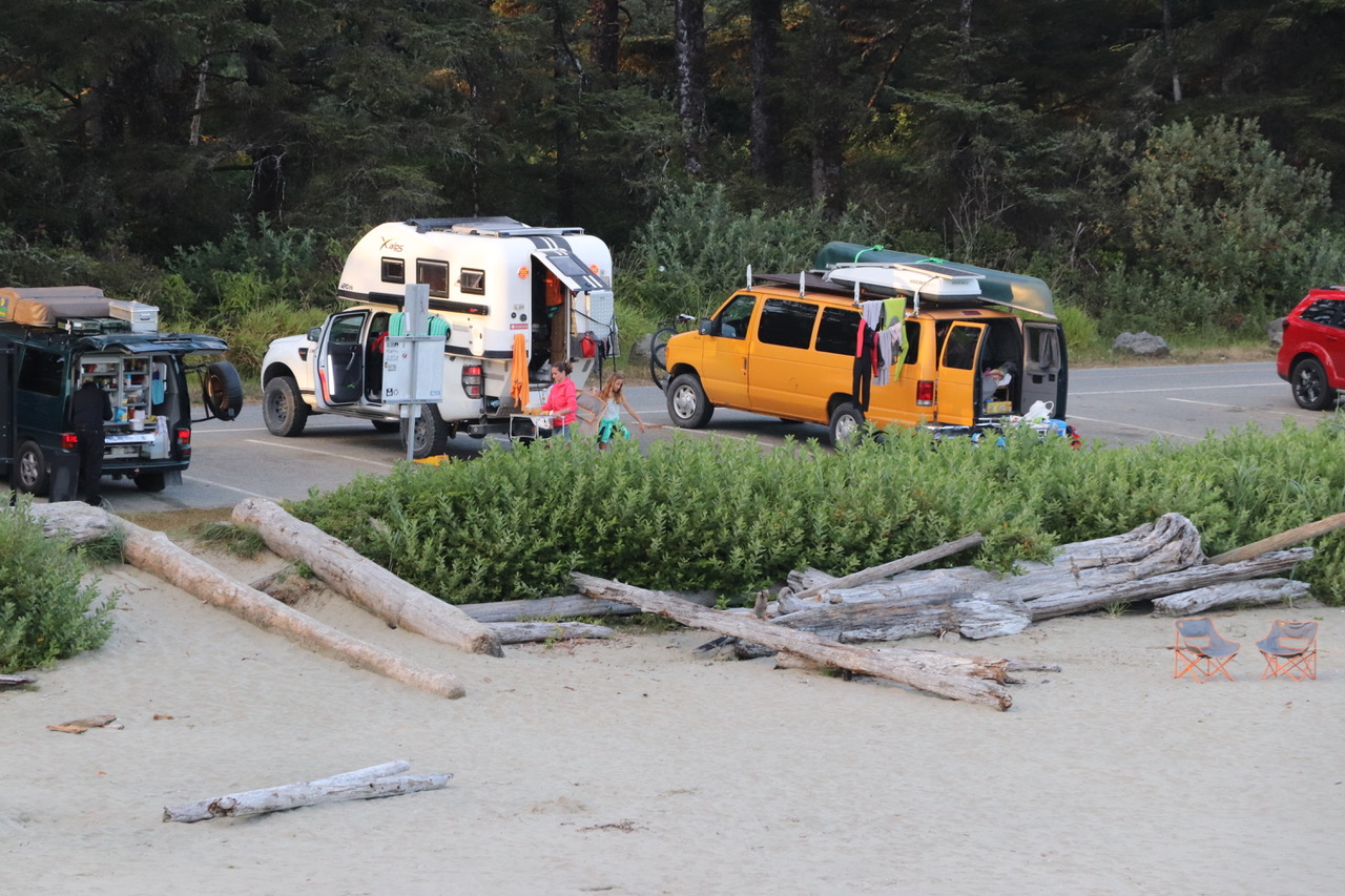 Day Camping on Long Beach, Cox Bay