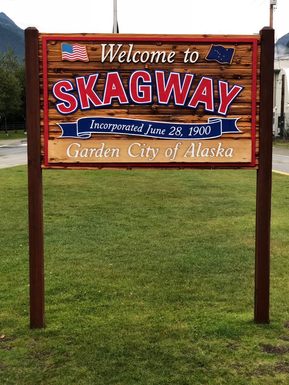 Skagway Town Sign