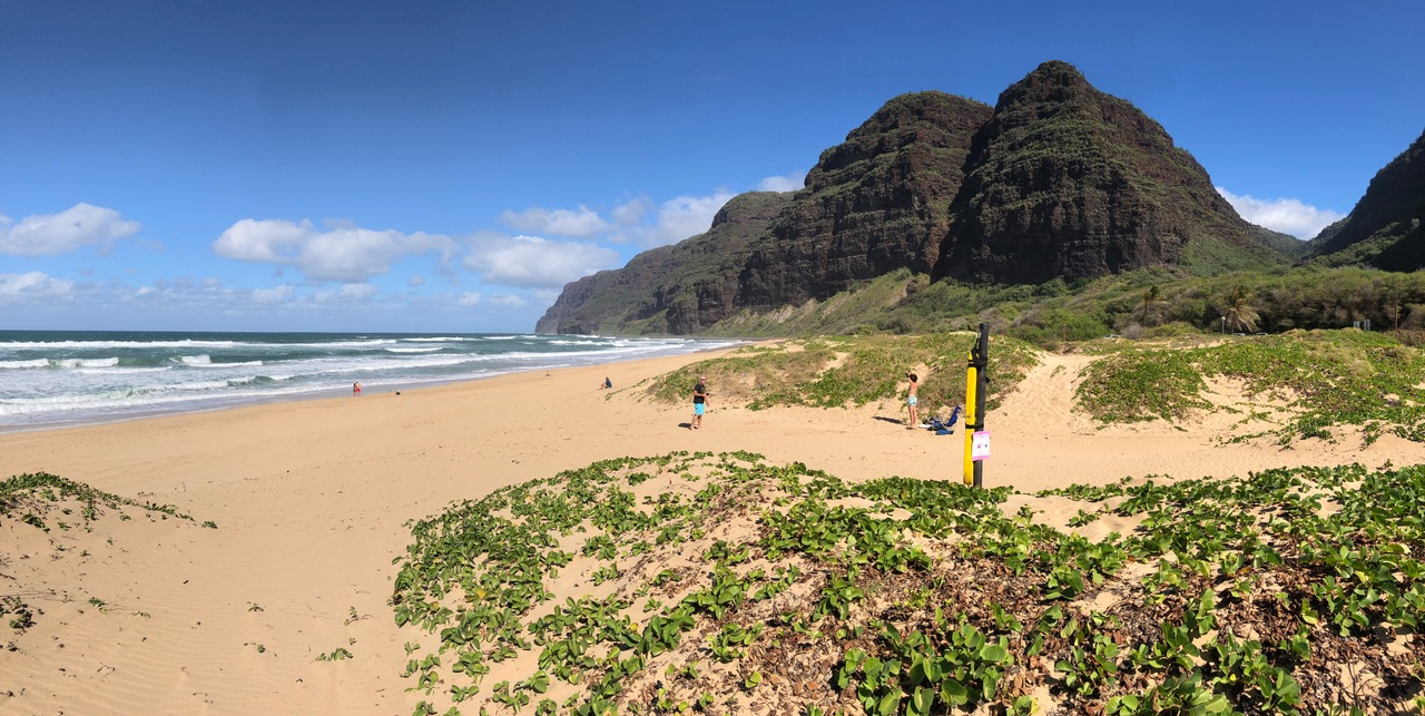 At the end of Polihale Beach is a place called Ha'ele'ele, it's the jumping off point for spirits leaving this world to join their ancestors forever