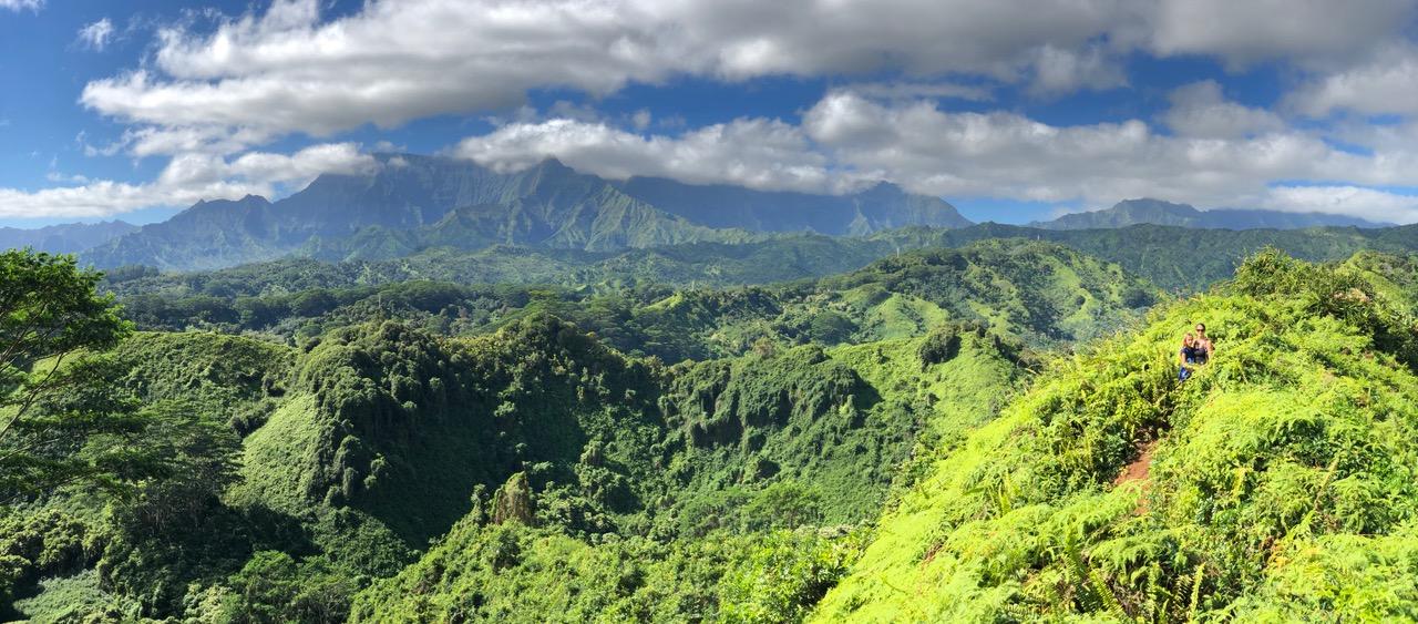 View off Kuilau Ridge Trail