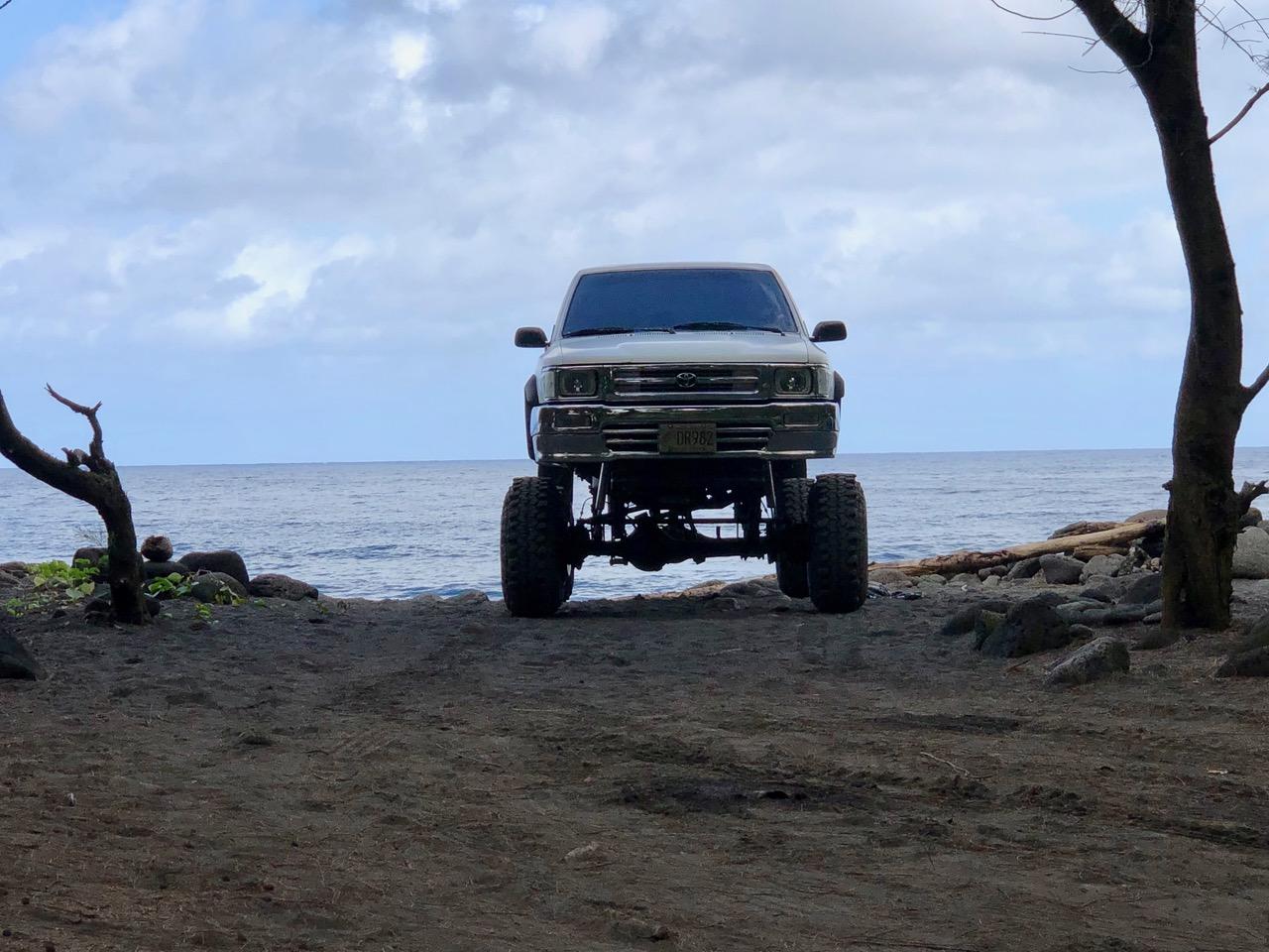 Jacked up trucks in Hawai'i are very common