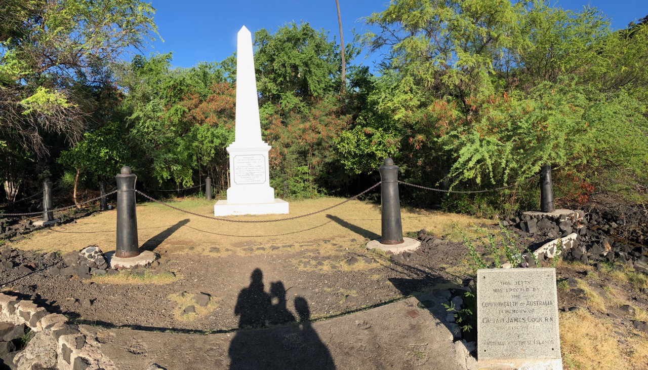Captain Cook Memorial - the discoverer of the Hawaiian Islands almost 250 years ago - unfortunately he left is life here - right here!