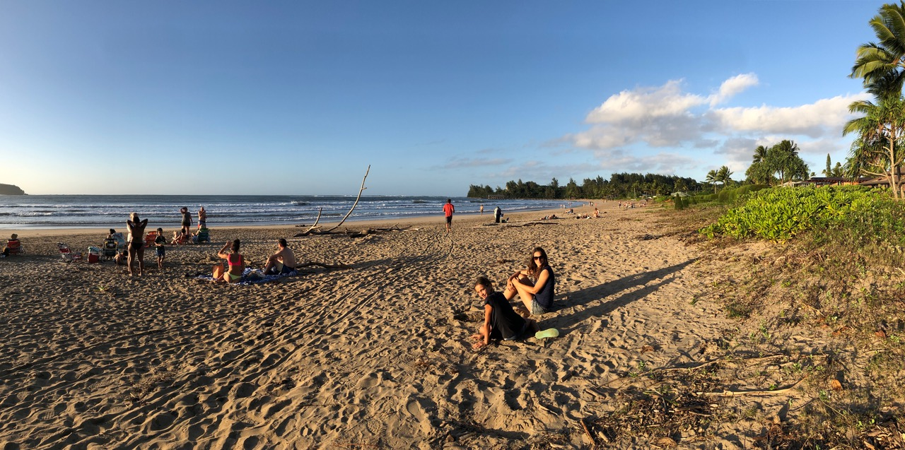 Late afternoon on our favourite Hanalei Beach