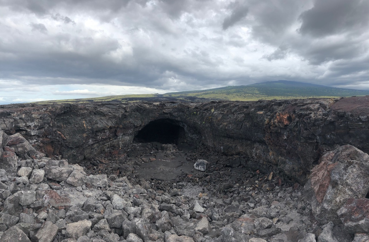 Lava Tube next to Highway