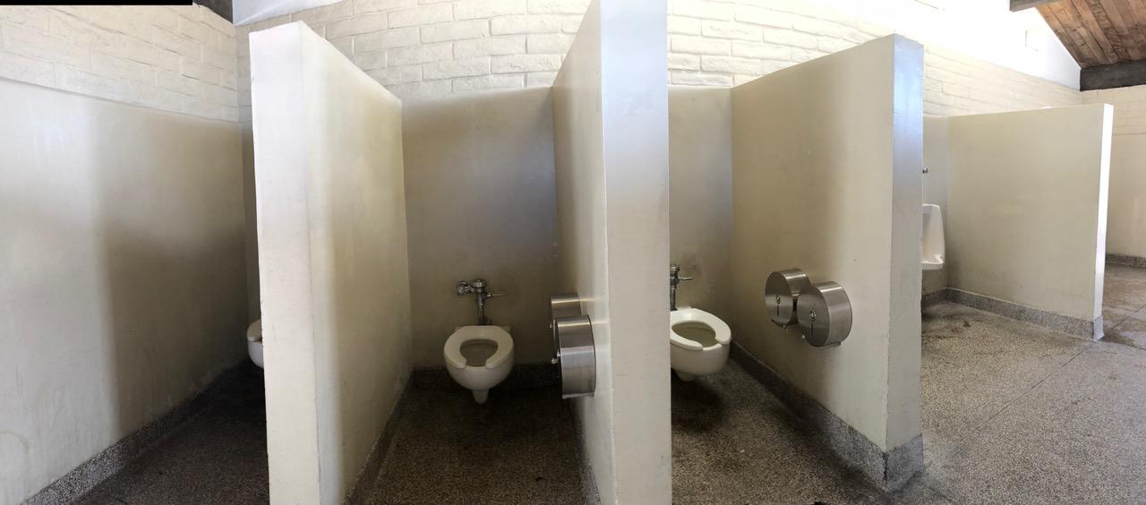 Mens Restroom...What's missing here?  (Toilet in Santa Barbara)