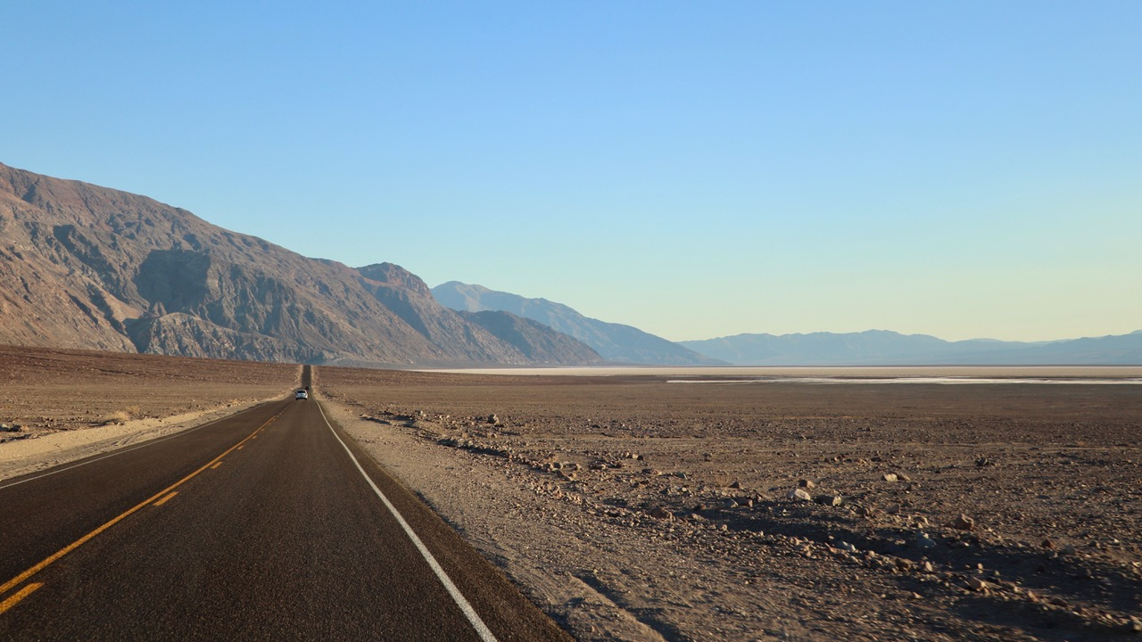 and then heading towards Badwater which is 85.5m below sea level...