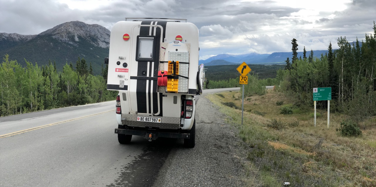 Turning off the Alaska Highway