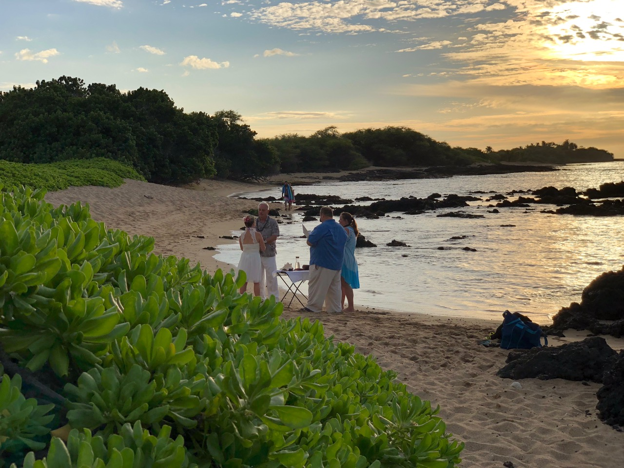 Many come to Hawai'i to get married on the beach