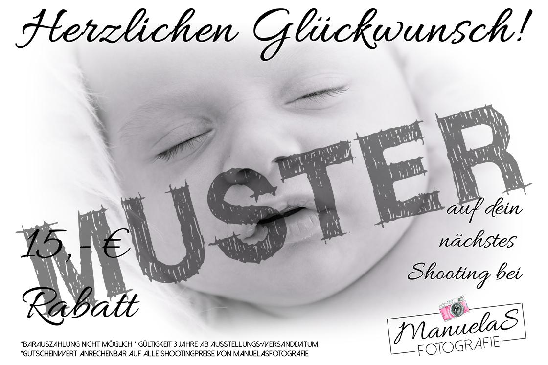 Gutschein Newborn - ManuelaSfotografie MUSTER www.fotografin-deggendorf.de