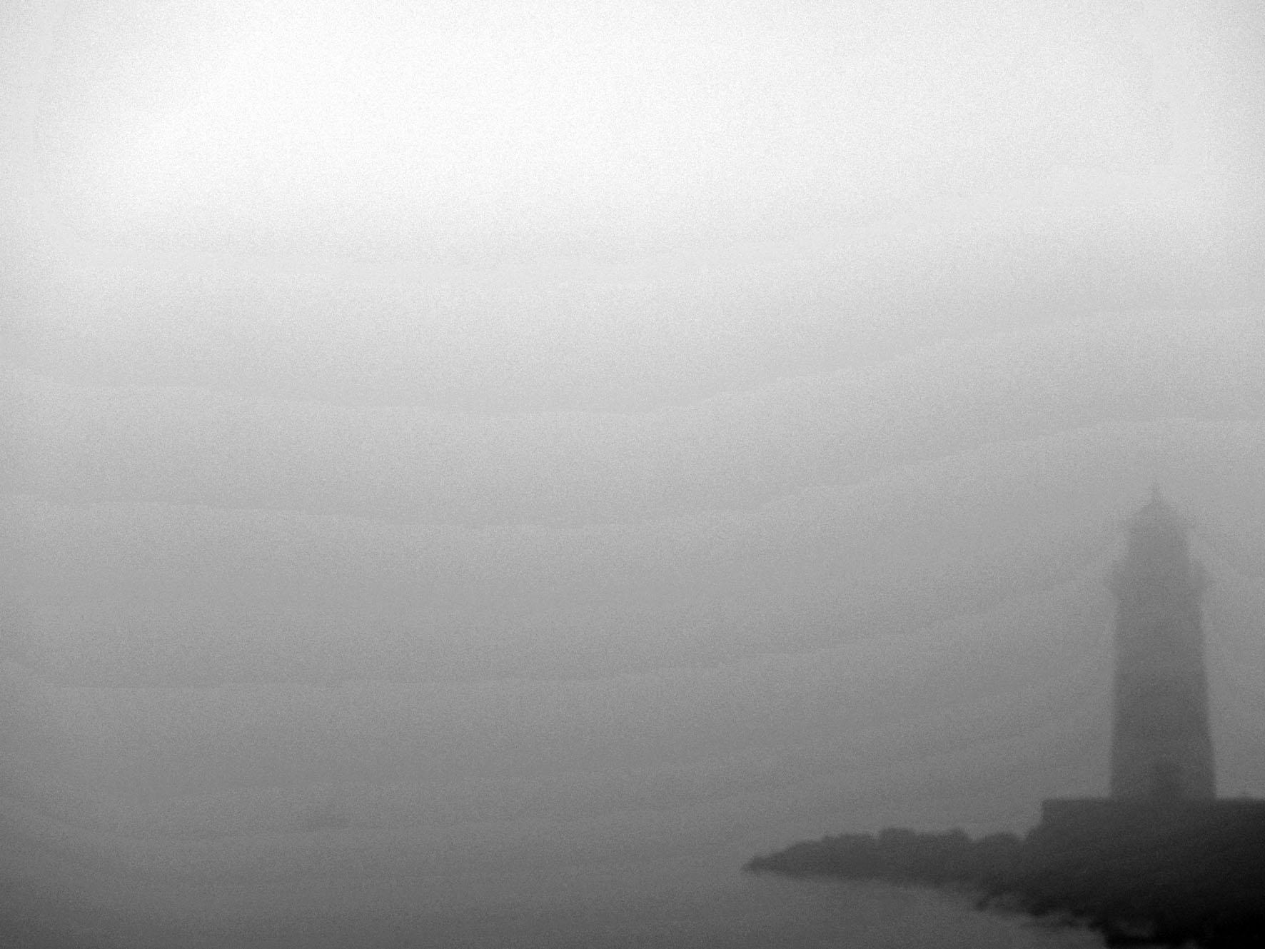 um halb 10 bis halb 12 plötzlich aufziehender pottendichter  Nebel