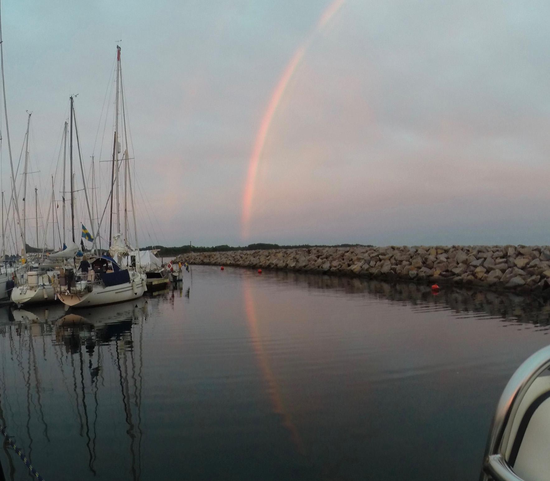 nochmal der Regenbogen, weil es so spektakulär war