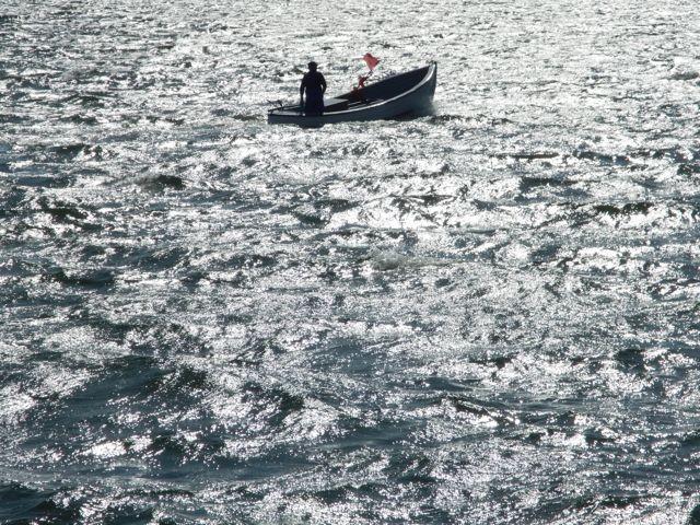 Fischerboot in der Bucht vor Faaborg