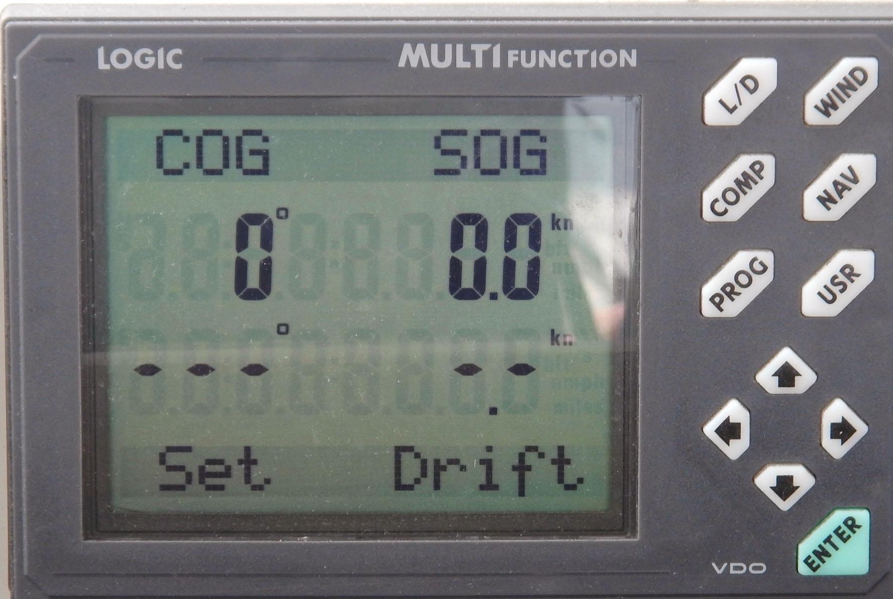 alle Instrumente auf Null - Flaute