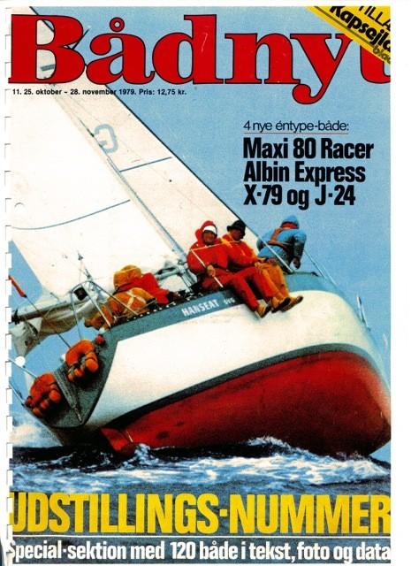 Hanseat 33 Racing als Titel auf der Badnyt im November 1979