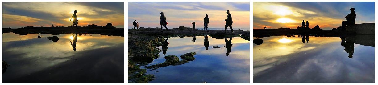 夕暮れの刻 (藤沢市 江の島) ※3枚組写真