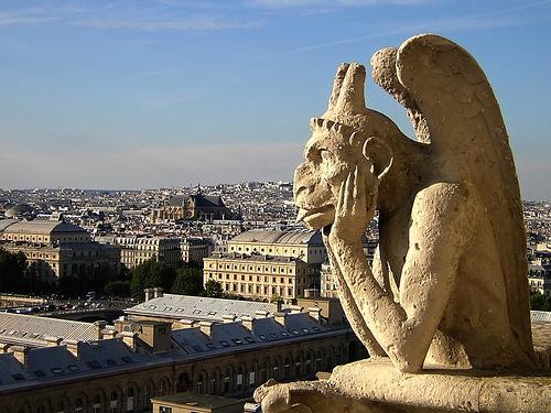Notre Dame gargoyle and chimera