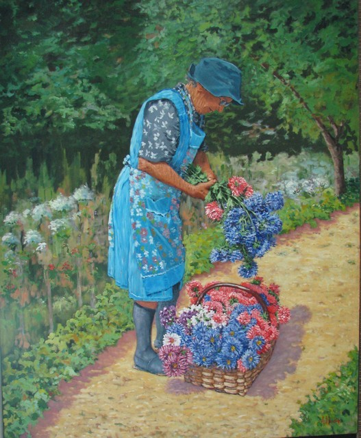 La jardinière, tableau de Jean-Louis Abbadie