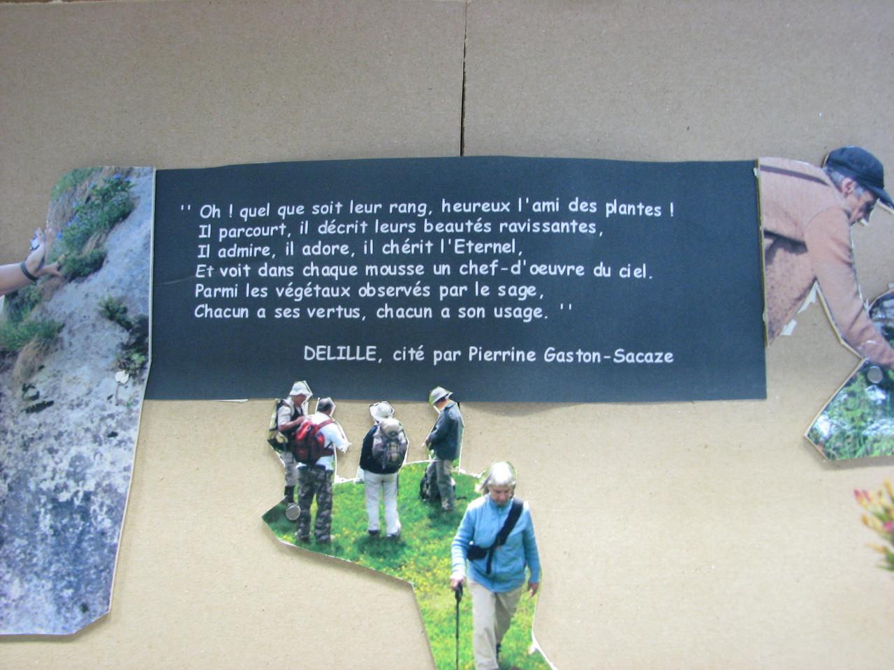 Extrait d'un poème de Jacques Delille