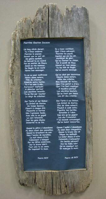 Poème écrit par Pierre Boy