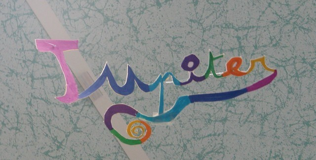 Nom de planète écrit par un enfant de la calendreta