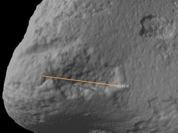 Feinste Vermessung von Oberflächendetails am digitalen 3D-Modell