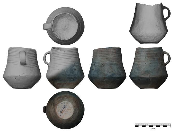 Gescanntes prähistorisches Gefäß (BLDAM)