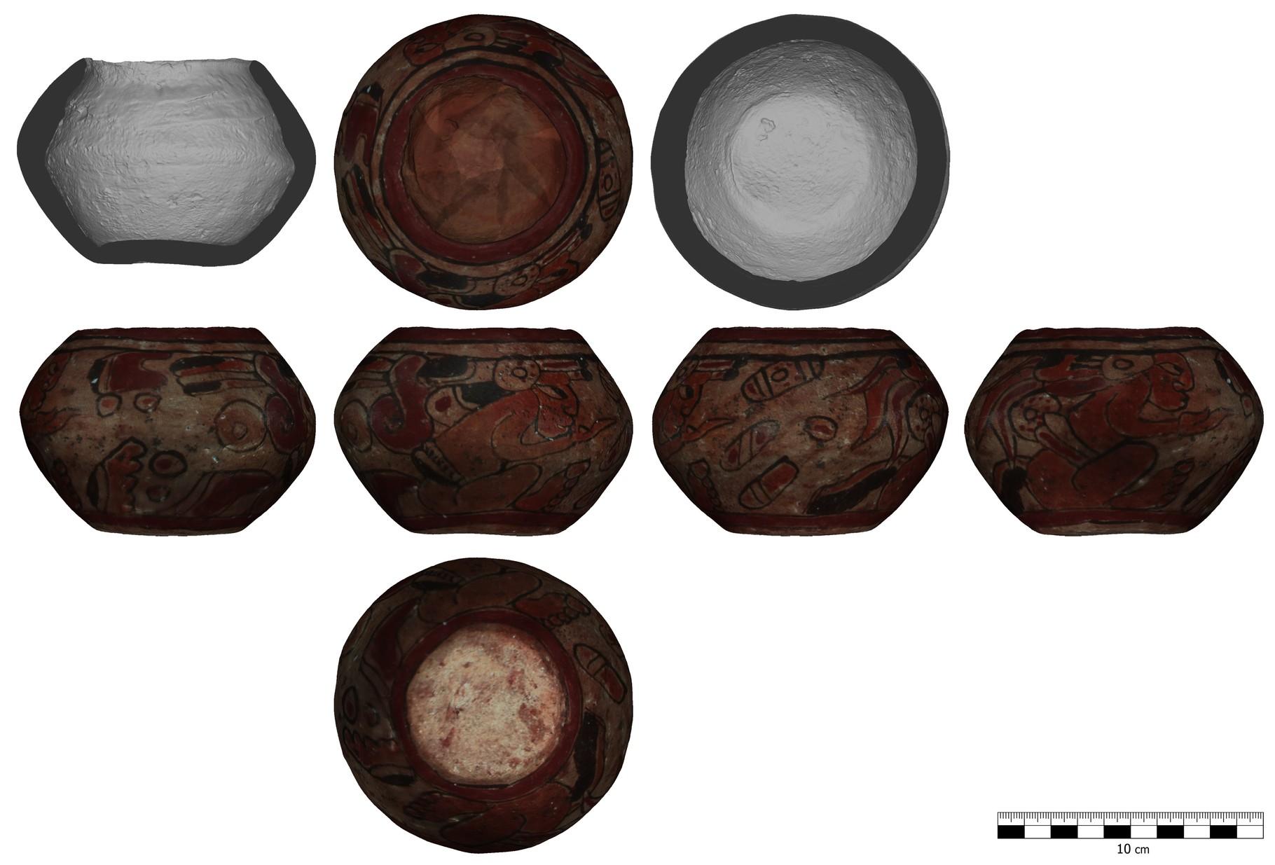 Keramikgefäß mit umlauafender Darstellung