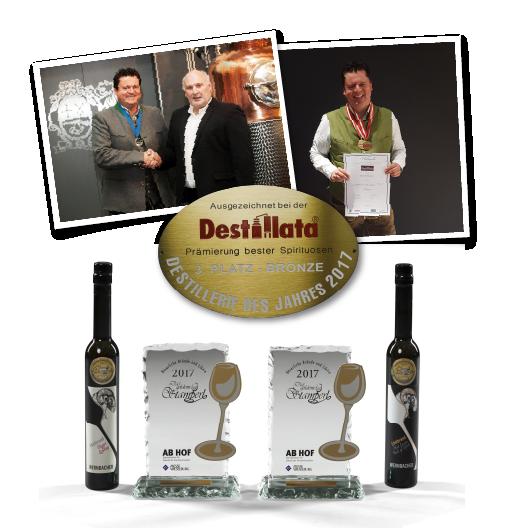 Auszeichnungen Destillata, Destillerie des Jahres 2017, Edgar Wernbacher