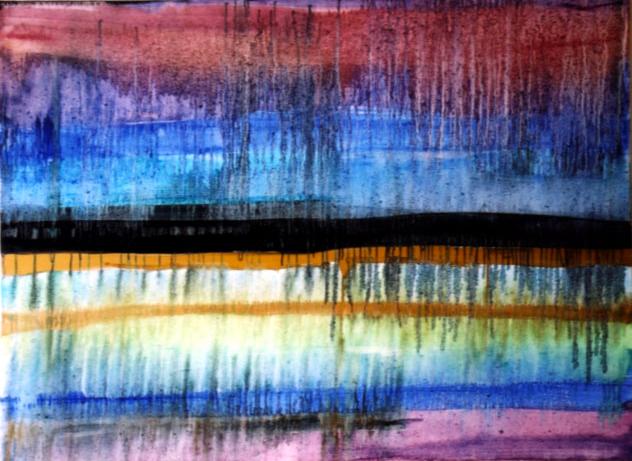 "Monsoon, oil on Canvas 36""x 48"" / 雨季, 布面油畫, 92 x 122cm,  2003"