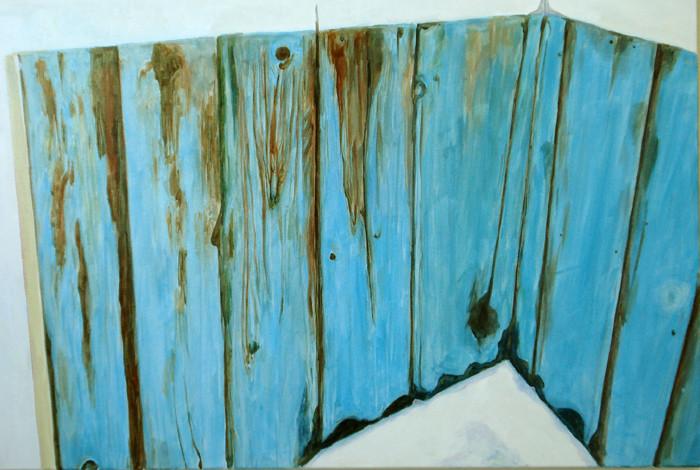 "Mending Wall (Canada-Vancouver), 24""x36"" / 斑剥 (加拿大-温哥华), 61x 92cm  2008"