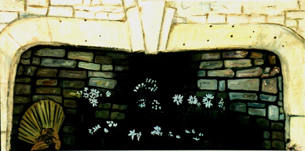 "Fireplace (England-Newcastle), 61""x 102"" / 壁炉(英国-纽卡斯尔)155x260cm, 1999"