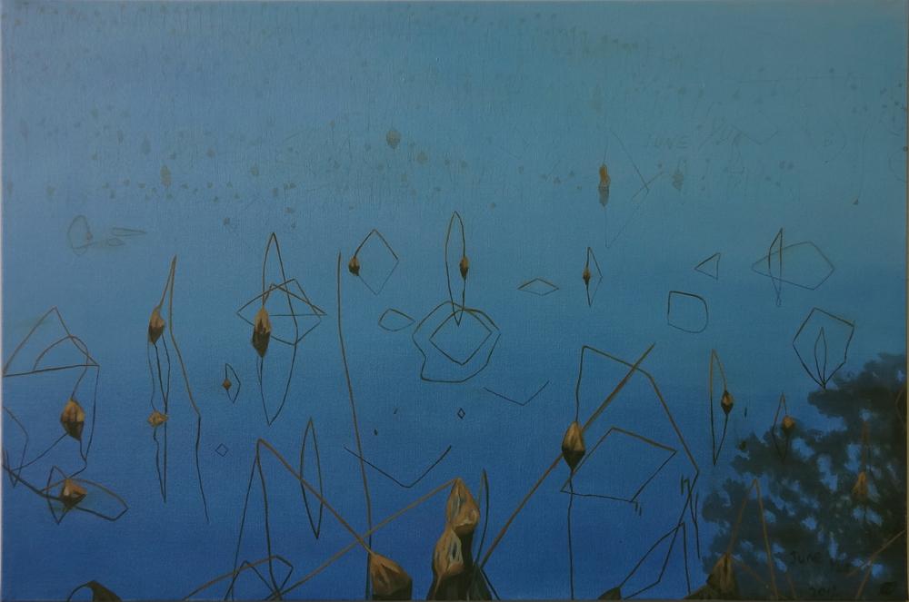 "West lake 20""x30"" / 西湖, 51cm x 76cm, 2012"