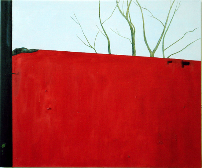 """Bright Winter (Mexico-Valladolid), 20""""x24"""" / 亮丽的冬天 (墨西哥-瓦拉岛理徳), 51x6cm, 2008"""