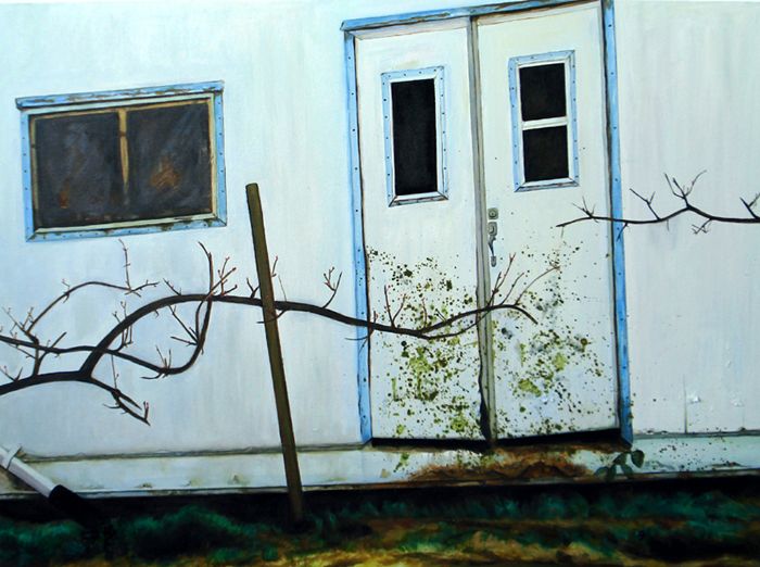 "Barn, Oil on Canvas, 30""x40""/農舍,布面油畫,76x102cm, 2008"