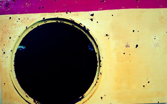 """Black Circle (England- Liverpool), 30""""x48""""/ 黑洞 (英国-利物浦), 76 x122cm  2008"""