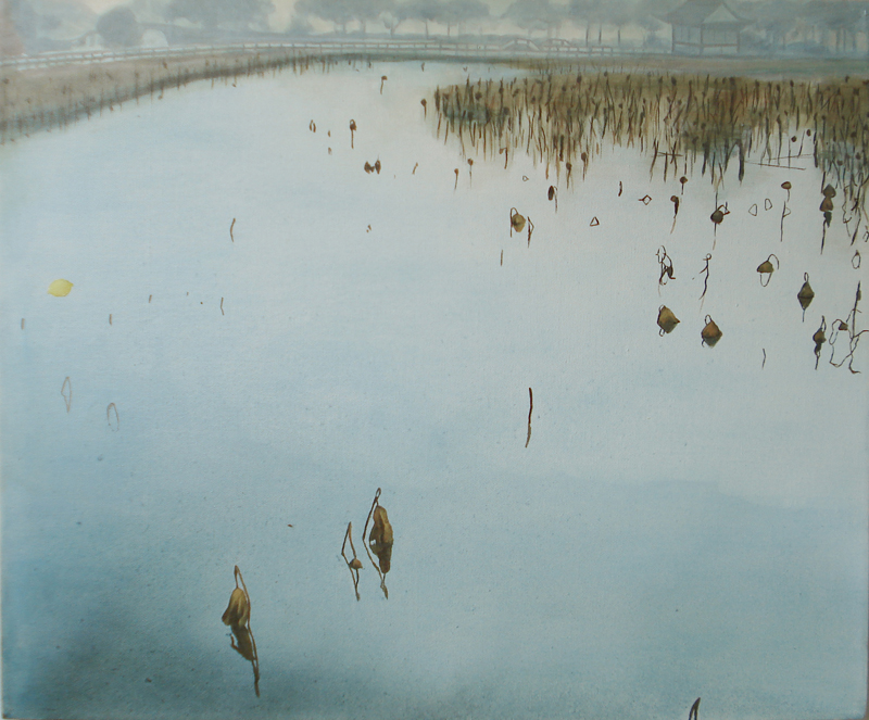 "January at West Lake, 20""x 24"" / 一月的西湖, 51cmx61cm, 2010"