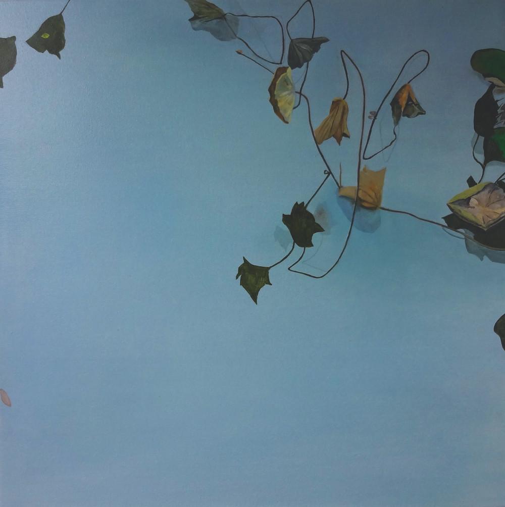 "Autumn Lilies, 24""x24""/秋荷61x61cm, 2014"