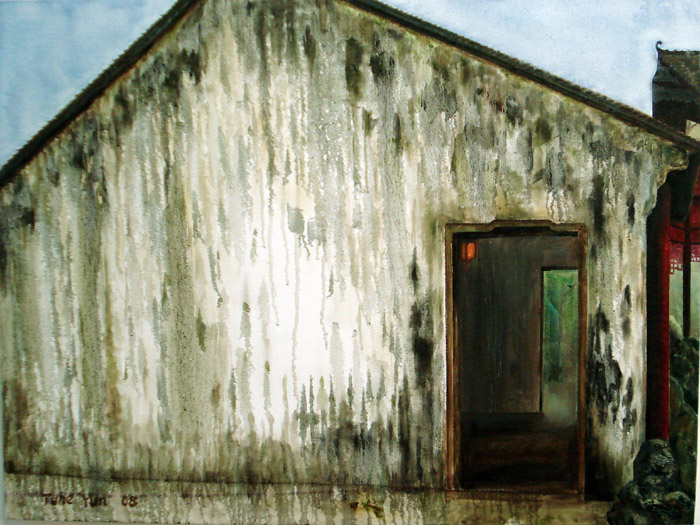 "Raining Life, 30""x40""/歲月,布面油畫,76x102cm, 2008"